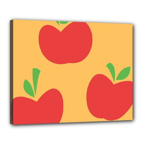 Apple Fruit Red Orange Canvas 20  x 16