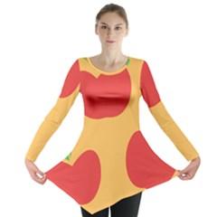 Apple Fruit Red Orange Long Sleeve Tunic