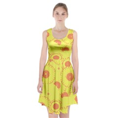 Circles Lime Pink Racerback Midi Dress