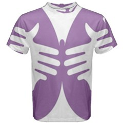 Colorful Butterfly Hand Purple Animals Men s Cotton Tee