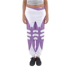 Colorful Butterfly Hand Purple Animals Women s Jogger Sweatpants