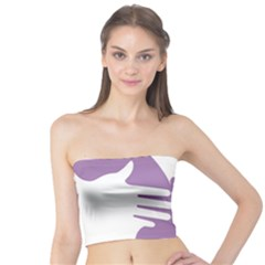 Colorful Butterfly Hand Purple Animals Tube Top