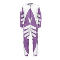 Colorful Butterfly Hand Purple Animals OnePiece Jumpsuit (Kids)