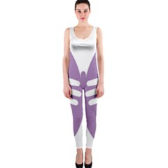Colorful Butterfly Hand Purple Animals OnePiece Catsuit