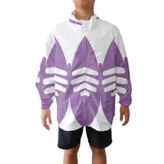 Colorful Butterfly Hand Purple Animals Wind Breaker (Kids)