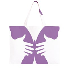 Colorful Butterfly Hand Purple Animals Large Tote Bag