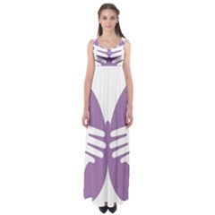 Colorful Butterfly Hand Purple Animals Empire Waist Maxi Dress