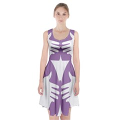 Colorful Butterfly Hand Purple Animals Racerback Midi Dress