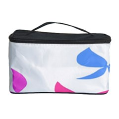 Colorful Butterfly Blue Red Pink Brown Fly Leaf Animals Cosmetic Storage Case