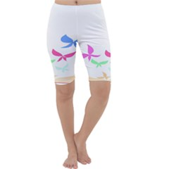 Colorful Butterfly Blue Red Pink Brown Fly Leaf Animals Cropped Leggings