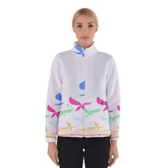 Colorful Butterfly Blue Red Pink Brown Fly Leaf Animals Winterwear