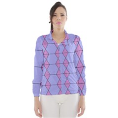 Demiregular Purple Line Triangle Wind Breaker (Women)