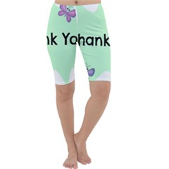 Colorful Butterfly Thank You Animals Fly White Green Cropped Leggings