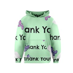 Colorful Butterfly Thank You Animals Fly White Green Kids  Pullover Hoodie