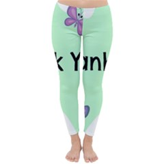 Colorful Butterfly Thank You Animals Fly White Green Classic Winter Leggings