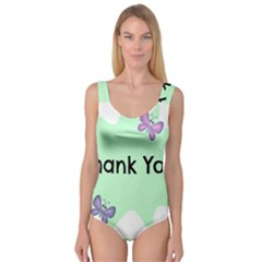 Colorful Butterfly Thank You Animals Fly White Green Princess Tank Leotard