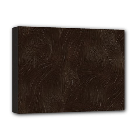 Bear Skin Animal Texture Brown Deluxe Canvas 16  X 12