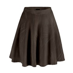 Bear Skin Animal Texture Brown High Waist Skirt
