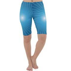 Dreams Sun Blue Wave Cropped Leggings
