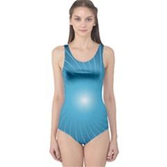 Dreams Sun Blue Wave One Piece Swimsuit