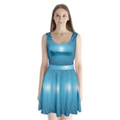 Dreams Sun Blue Wave Split Back Mini Dress