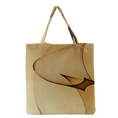 Edge Gold Wave Grocery Tote Bag