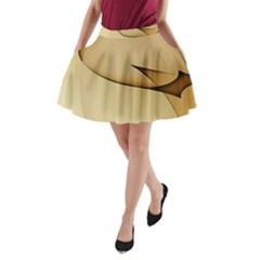 Edge Gold Wave A-Line Pocket Skirt