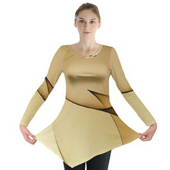 Edge Gold Wave Long Sleeve Tunic