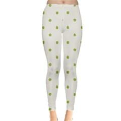 Green Spot Jpeg Leggings