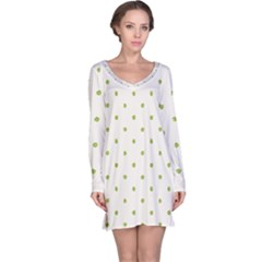 Green Spot Jpeg Long Sleeve Nightdress