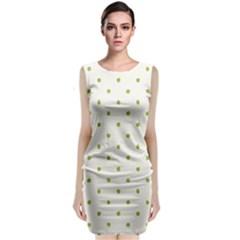 Green Spot Jpeg Classic Sleeveless Midi Dress