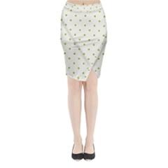 Green Spot Jpeg Midi Wrap Pencil Skirt