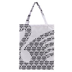 Honeycomb Swan Animals Black White Plaid Classic Tote Bag