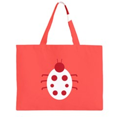 Little Butterfly Illustrations Beetle Red White Animals Large Tote Bag