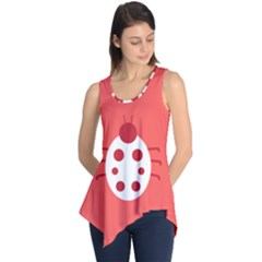 Little Butterfly Illustrations Beetle Red White Animals Sleeveless Tunic