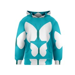 Little Butterfly Illustrations Animals Blue White Fly Kids  Pullover Hoodie