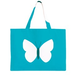Little Butterfly Illustrations Animals Blue White Fly Large Tote Bag