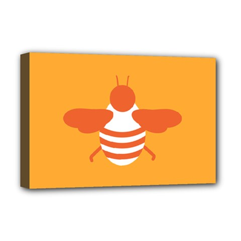 Littlebutterfly Illustrations Bee Wasp Animals Orange Honny Deluxe Canvas 18  x 12