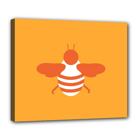 Littlebutterfly Illustrations Bee Wasp Animals Orange Honny Deluxe Canvas 24  x 20
