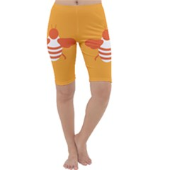 Littlebutterfly Illustrations Bee Wasp Animals Orange Honny Cropped Leggings