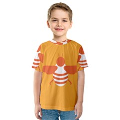 Littlebutterfly Illustrations Bee Wasp Animals Orange Honny Kids  Sport Mesh Tee