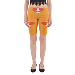 Littlebutterfly Illustrations Bee Wasp Animals Orange Honny Yoga Cropped Leggings