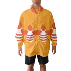 Littlebutterfly Illustrations Bee Wasp Animals Orange Honny Wind Breaker (Kids)