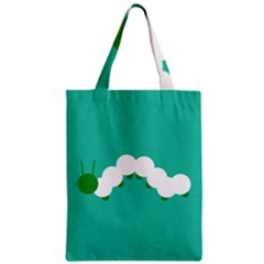 Little Butterfly Illustrations Caterpillar Green White Animals Zipper Classic Tote Bag