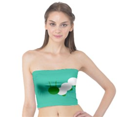 Little Butterfly Illustrations Caterpillar Green White Animals Tube Top