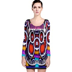 Nibiru Power Up Long Sleeve Bodycon Dress