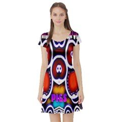 Nibiru Power Up Short Sleeve Skater Dress