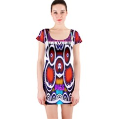 Nibiru Power Up Short Sleeve Bodycon Dress