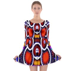 Nibiru Power Up Long Sleeve Skater Dress