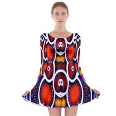 Nibiru Power Up Long Sleeve Skater Dress